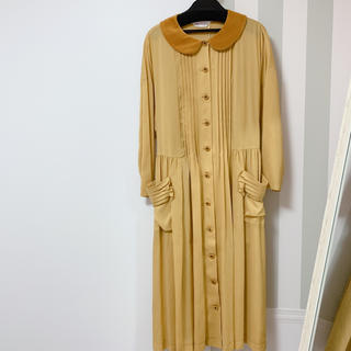 JaneMarple - Jane Marple ベルベット襟 ワンピース 新品