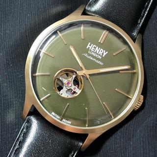 セイコー(SEIKO)の【デッドストック】HENRY LONDON 自動巻 腕時計(腕時計(アナログ))