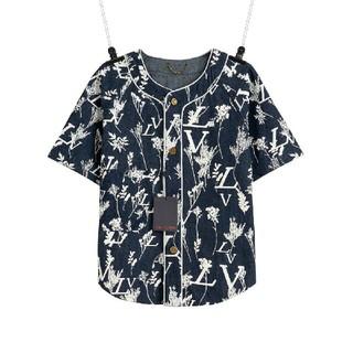 ルイヴィトン(LOUIS VUITTON)の半袖デニムジャケットシャツ(シャツ)
