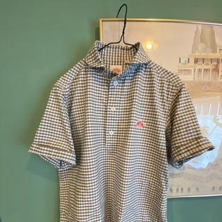 DANTON - DANTON  丸襟ポケット付プルオーバー 半袖シャツ ギンガムチェック