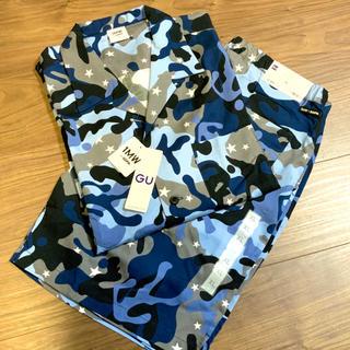 ソフ(SOPH)のGU  SOPH オープンカラーシャツ ハーフパンツ / カモフラ 81 ソフ (セットアップ)