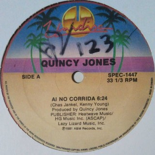 QUINCY JONES b/w CHAZ JANKEL(ターンテーブル)