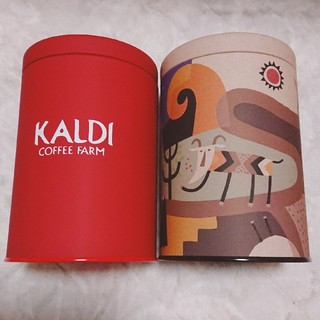 カルディ(KALDI)のカルディ キャニスター缶 伝説柄 赤(容器)