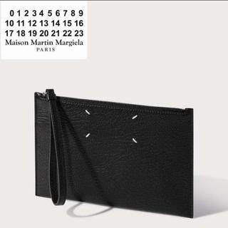 マルタンマルジェラ(Maison Martin Margiela)のMAISON MARGIELA グレインレザー フラットポーチ(ポーチ)