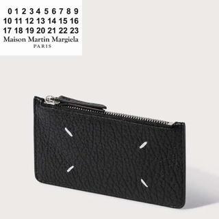 マルタンマルジェラ(Maison Martin Margiela)のMAISON MARGIELA グレインレザー ジップ カードフォルダー(財布)