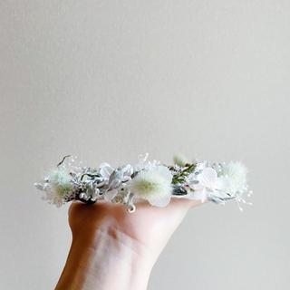 リースにもなるドライフラワーの花冠(ドライフラワー)