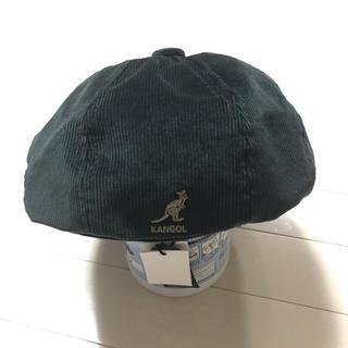 カンゴール(KANGOL)のKANGOL カンゴール ハンチング帽 ベレー帽 グリーン コーデュロイ(ハンチング/ベレー帽)