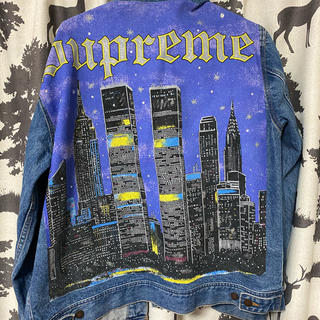 Supreme - Supreme new york painted trucker jacket
