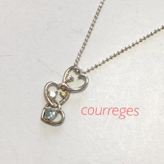 クレージュ(Courreges)のcourreges クレージュ ハートネックレス(ネックレス)