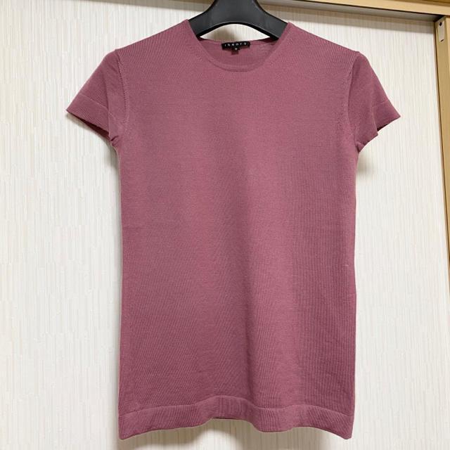 theory(セオリー)のセオリー カシミヤ100% 半袖ニット 上質素材 レディースのトップス(ニット/セーター)の商品写真