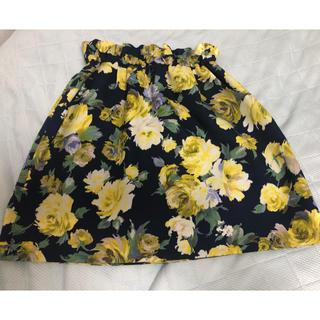 プロポーションボディドレッシング(PROPORTION BODY DRESSING)の花柄スカート エディットコロン(ひざ丈スカート)
