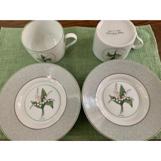 クリスチャンディオール(Christian Dior)のクリスチャン ディオール ミリラフォーレ カップ&ソーサー 2客(食器)