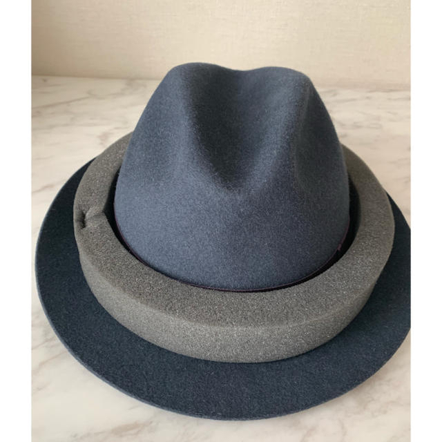 Borsalino(ボルサリーノ)の夏海様専用: Borsalino グレー ハット サイズM 58 ユニセックス メンズの帽子(ハット)の商品写真