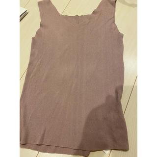 グレイル(GRL)の新品タグ付きグレイルピンクニットタンクトップ(Tシャツ/カットソー(半袖/袖なし))