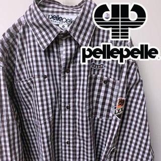 PELLE PELLE - PELLE PELLE ペレペレ 半袖チェックシャツ XL HIPHOP B系