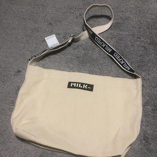 ミルクフェド(MILKFED.)の《新品未使用》Milkfed. Logo Canvas Shoulder Bag(ショルダーバッグ)
