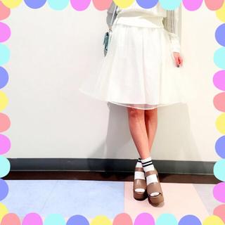 ワンアフターアナザーナイスクラップ(one after another NICE CLAUP)のオーガンジースカート♡(ミニスカート)