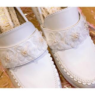 リズリサ(LIZ LISA)のリズリサ フラワー付ヒールローファー(ローファー/革靴)