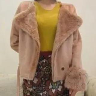 リリーブラウン(Lily Brown)のlily brown ムートンジャケット ピンク(テーラードジャケット)