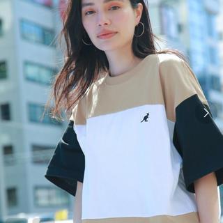 KANGOL - KANGOL ビックシルエット クレイジーパターンTシャツ