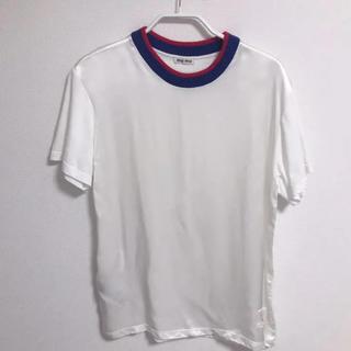 ミュウミュウ(miumiu)のmiumiu(半袖Tシャツ)(Tシャツ(半袖/袖なし))