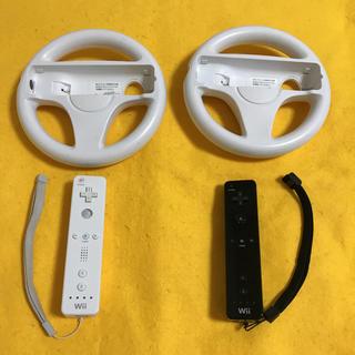 Wii - Wii マリオカート ハンドル Wii リモコン 2個セット