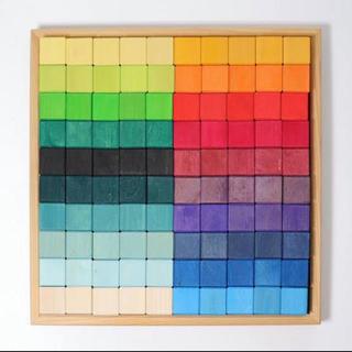 BorneLund - グリムス 虹のモザイクブロック 100ピース ラージ
