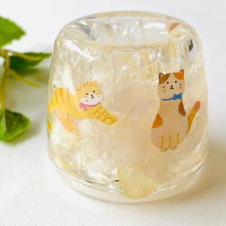 固まるハーバリウム ☆ 猫 歯ブラシ立てボールペンスタンド (日用品/生活雑貨)