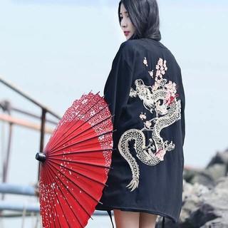 ドラゴン 桜 法被 着物 浴衣 フリーサイズ(浴衣)