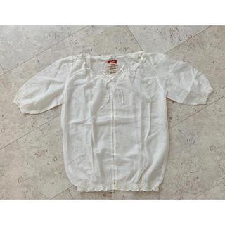 MUJI (無印良品) - 無印良品 綿シルクブラウスLサイズ 新品未使用
