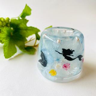 人魚姫♡シルエットがかわいい♡固まるハーバリウム  ボールペンスタンド (日用品/生活雑貨)