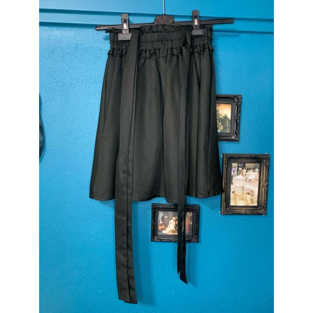 Ank Rouge(アンクルージュ)のアンクルージュ サイドリボンスカート ブラック レディースのスカート(ミニスカート)の商品写真