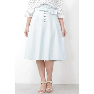プロポーションボディドレッシング(PROPORTION BODY DRESSING)のウエストリボンカラーツイル フレアスカート(ひざ丈スカート)