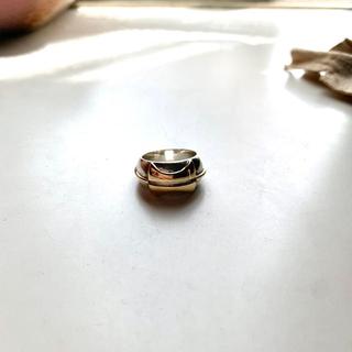 エルメス(Hermes)のHERMES ヴィンテージ リング 指輪 コンビ K18 SV YG(リング(指輪))