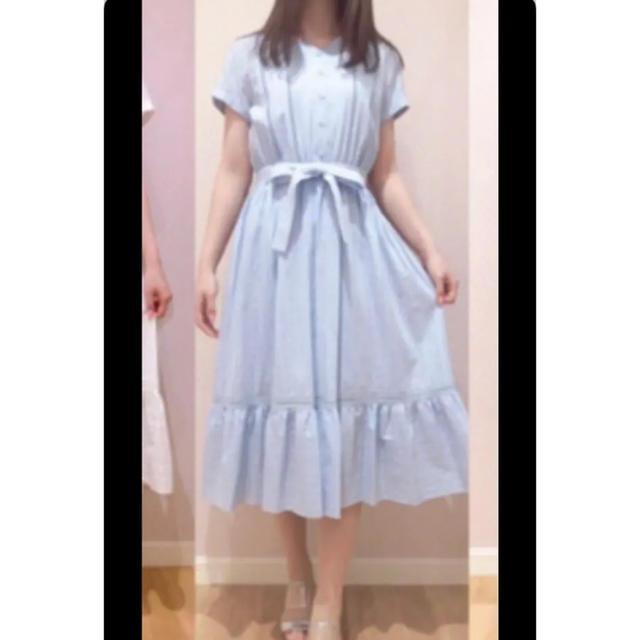 Debut de Fiore(デビュードフィオレ)のシャツワンピース ライトブルー 水色 レディースのワンピース(ひざ丈ワンピース)の商品写真