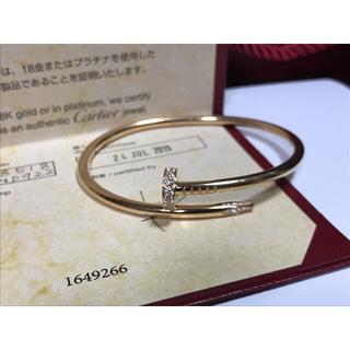 カルティエ(Cartier)のカルティエ ジュストアンクルブレスレット K18 ピンクゴールド 純正ダイヤ(ブレスレット)