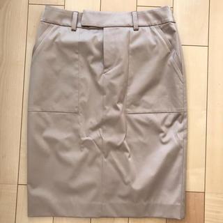 クードシャンス(COUP DE CHANCE)のクードシャンスベージュタイトスカート36通勤フォーマル(ミニスカート)