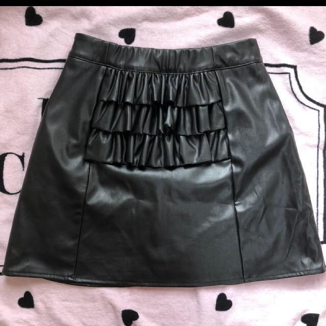 Honey Cinnamon(ハニーシナモン)のハニーシナモン レザースカート レディースのスカート(ミニスカート)の商品写真