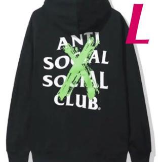 アンチ(ANTI)のAnti Social Social Club パーカー 黒緑 L 新品(パーカー)