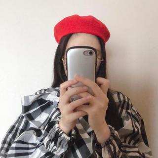赤 ベレー帽 レッド(ハンチング/ベレー帽)