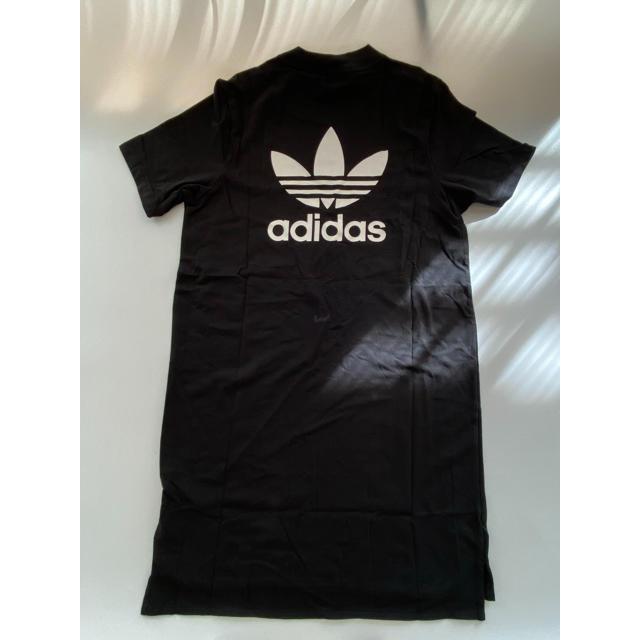 adidas(アディダス)の【Mサイズ】新品未使用 adidas アディダス ミニ ロゴ Tシャツ ドレス レディースのワンピース(ひざ丈ワンピース)の商品写真