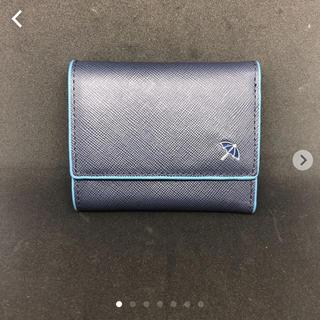 アーノルドパーマー(Arnold Palmer)のアーノルドパーマー レザー ミニウォレット ネイビー×ブルー(折り財布)