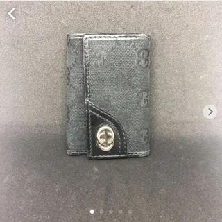 グッチ(Gucci)の【ジャンク】GUCCI グッチ GGキャンバス キーケース6連 ブラック(キーケース)