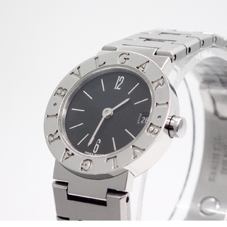 BVLGARI - 【BVLGARI】ブルガリ腕時計 'BB23SS' ブラック文字盤 ☆美品☆