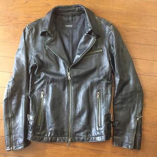 バーバリーブラックレーベル(BURBERRY BLACK LABEL)のバーバリーブラックレーベル☆羊革レザーライダースジャケット(ライダースジャケット)