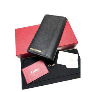カルティエ(Cartier)のCartier / カルティエ サントス レザー長財布 美品 正規品(長財布)