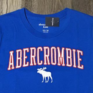 アバクロンビーアンドフィッチ(Abercrombie&Fitch)のabercrombiekids アバクロンビーロゴ刺繍TシャツUS13/14新品(Tシャツ/カットソー)