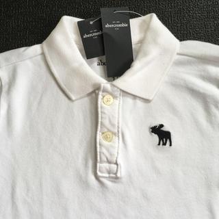アバクロンビーアンドフィッチ(Abercrombie&Fitch)のabercrombiekidsアバクロンビームース刺繍ポロシャツUS7/8新品(Tシャツ/カットソー)