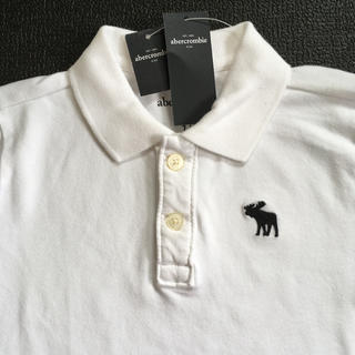 アバクロンビーアンドフィッチ(Abercrombie&Fitch)のabercrombiekidsアバクロンビームース刺繍ポロシャツUS9/10新品(Tシャツ/カットソー)
