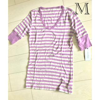 カルバンクライン(Calvin Klein)の【美品】カルバンクライン紫ボーダー/コストコ(Tシャツ(半袖/袖なし))